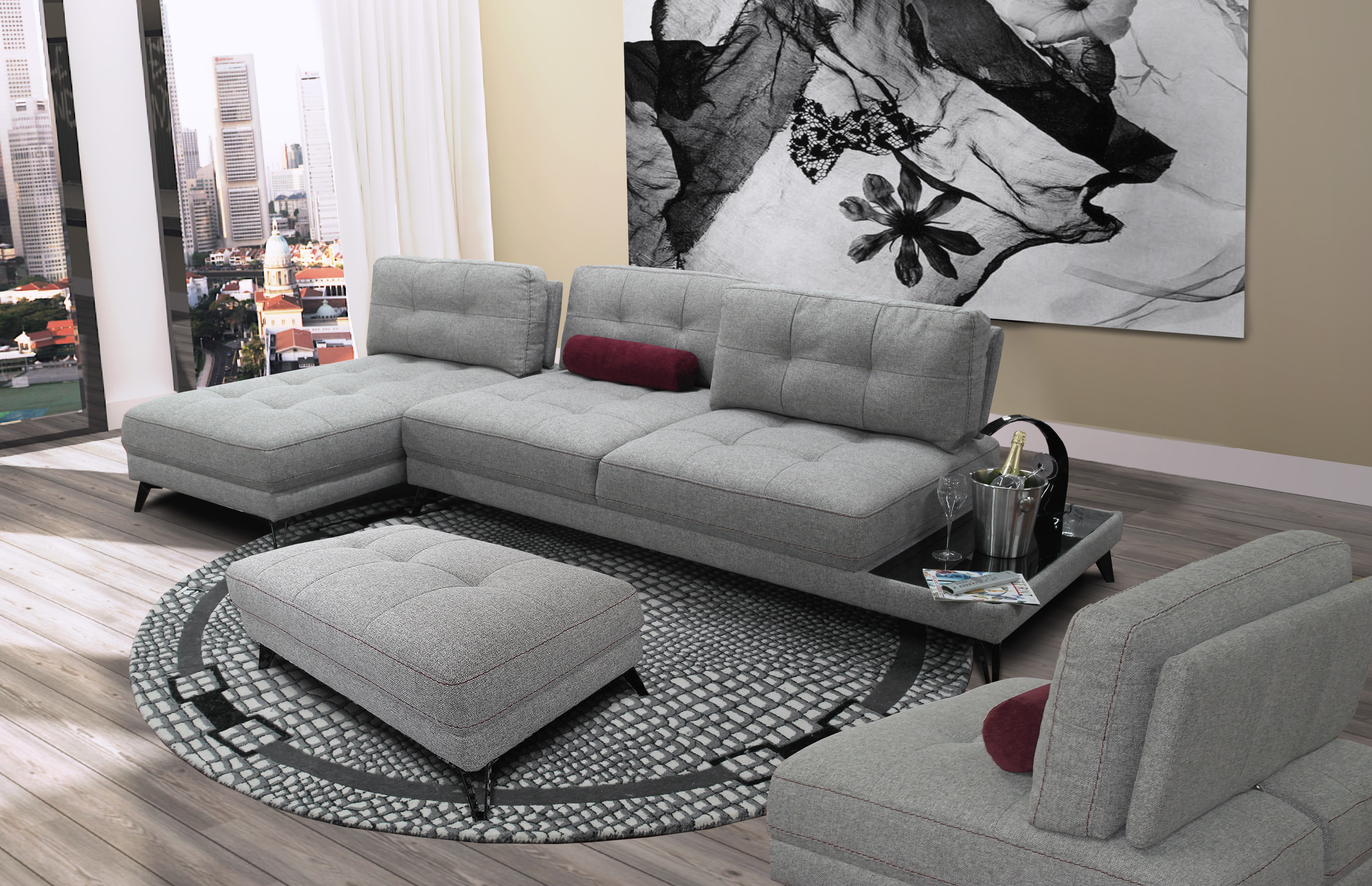 Groovy Sofa Nieri Modern Long Island Interior Design Ideas Clesiryabchikinfo